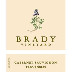 Brady, Cabernet Sauvignon Bottle Label