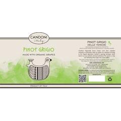 Candoni Organic Pinot Grigio Label