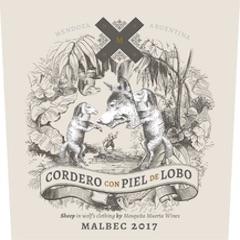 Cordero Con Piel De Lobo Malbec Label