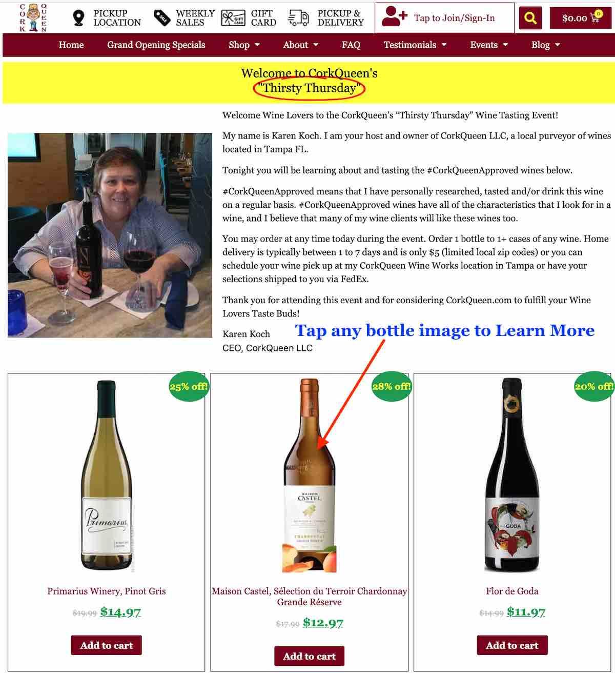 Order Wine - Step 2a