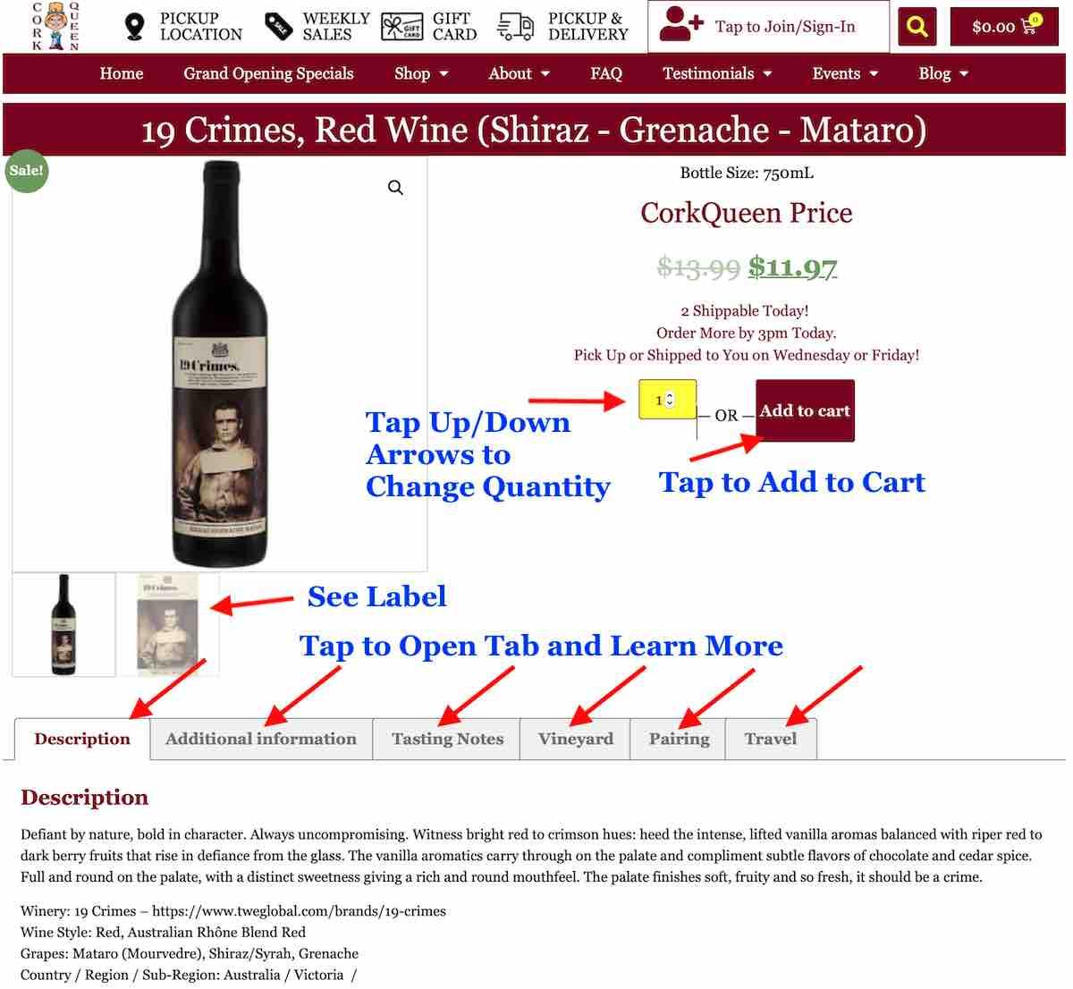 Order Wine - Step 2b