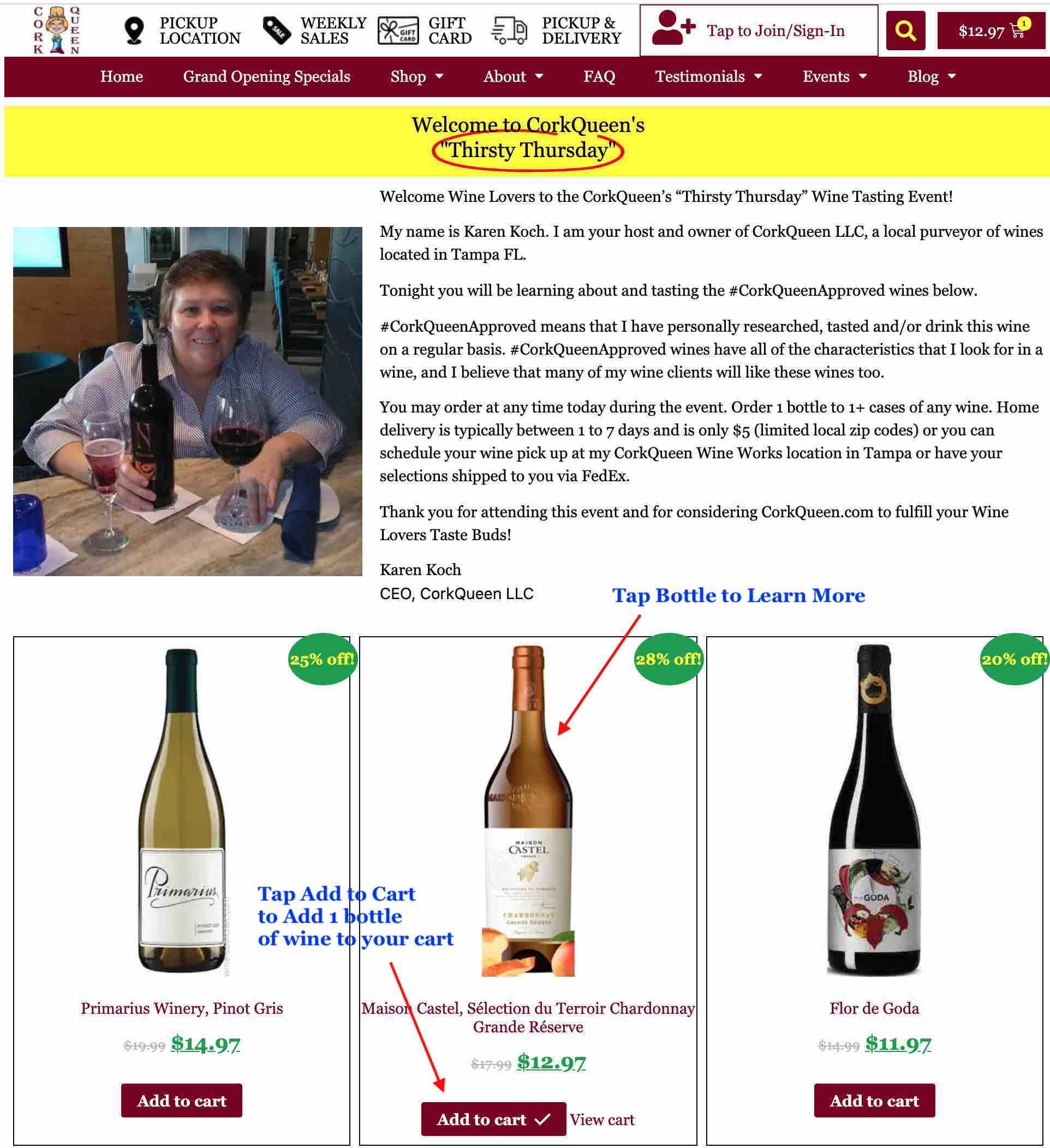 Order Wine - Step 3