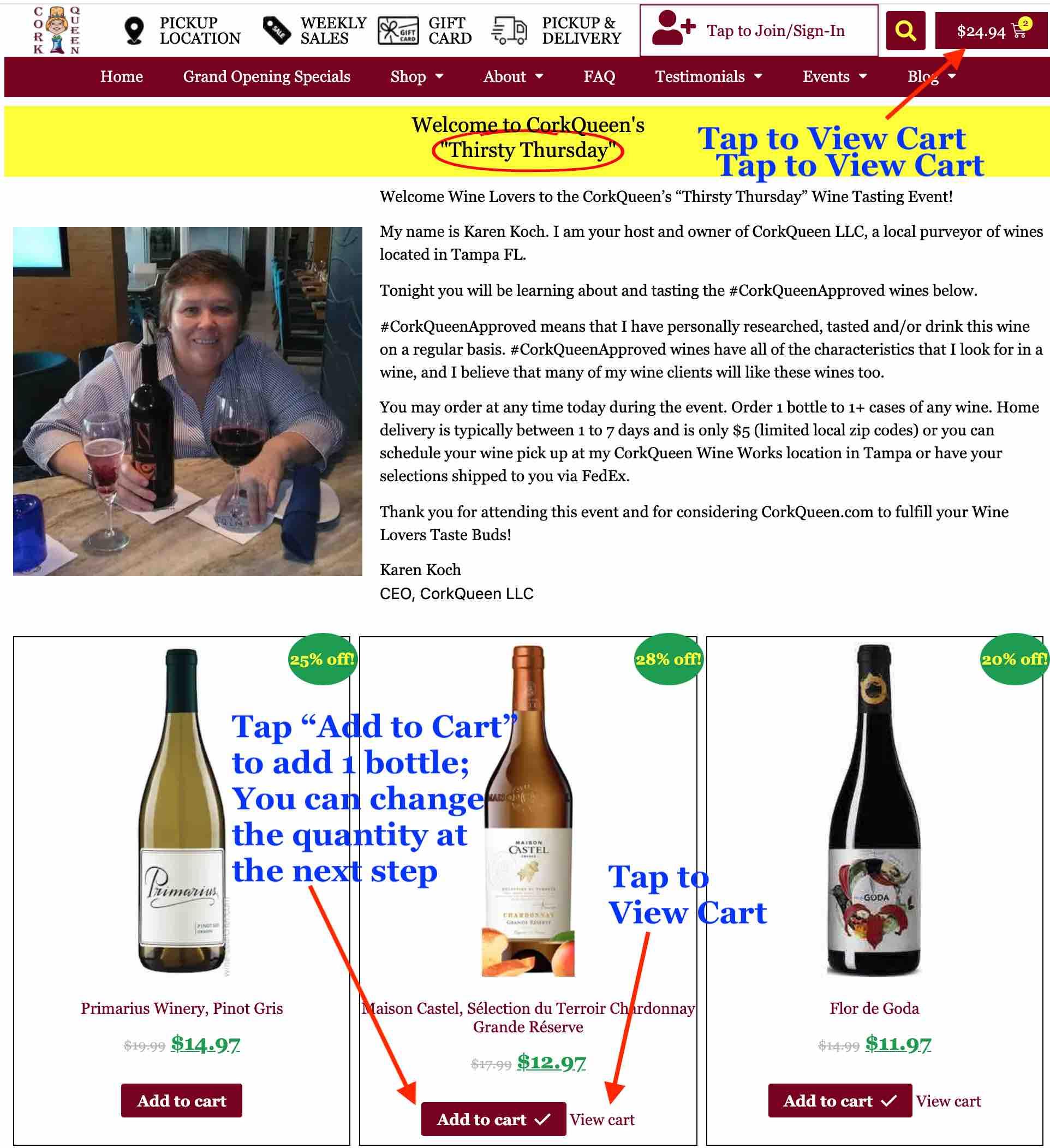 Order Wine - Step 4
