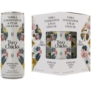 Two Chicks, Fizz Sparkling Vodka Pear & Elderflower Cocktail 4-Pack
