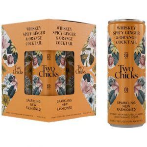 Two Chicks, New Fashioned Sparkling Whiskey Cocktail 4-Pack