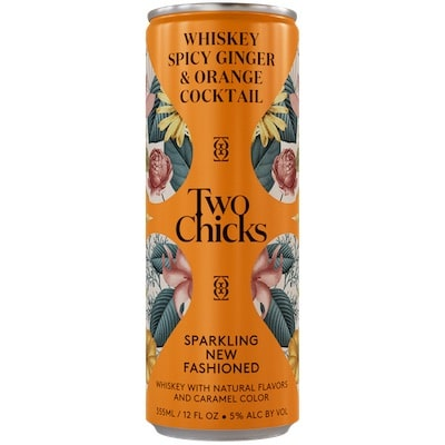 Two Chicks, New Fashioned Sparkling Whiskey Cocktail Can