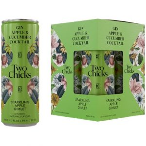 Two Chicks, Sparkling Apple Gimlet Gin Cocktail 4-Pack