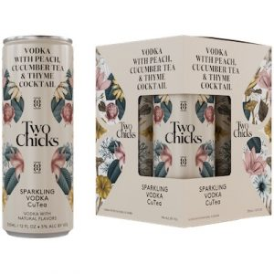 Two Chicks, Sparkling Cutea Vodka Cocktail 4-Pack