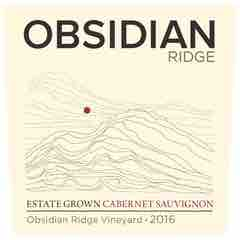 Obsidian Ridge, Cabernet Sauvignon Obsidian Ridge Vineyard Estate Grown Red Hills Lake County Label