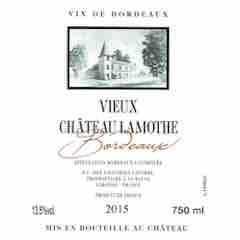 Vieux Chateau Lamothe Bordeaux Rouge Label