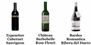 Typesetter Cabernet - Château Barbebelle Rose Fleuri - Bardos Romantica Ribera del Duero